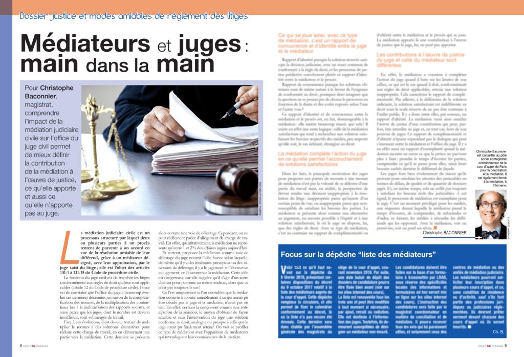 Pour Christophe Baconnier, magistrat, comprendre l'impact de la médiation judiciaire civile sur l'office du juge civil permet de mieux définir la contribution de la médiation à l'œuvre de la justice, ce qu'elle apporte et aussi ce qu'elle n'apporte pas au juge.