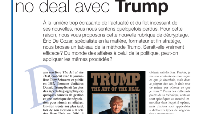 Négociation : TRUMP the ART of the DEAL