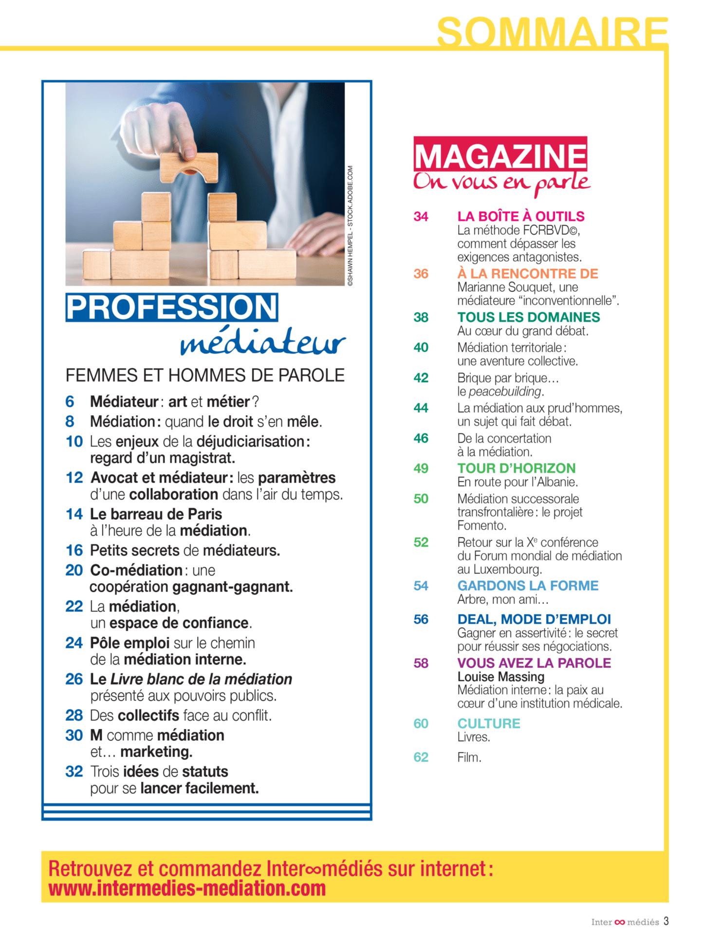 Inter-Médiés N°6 - Sommaire