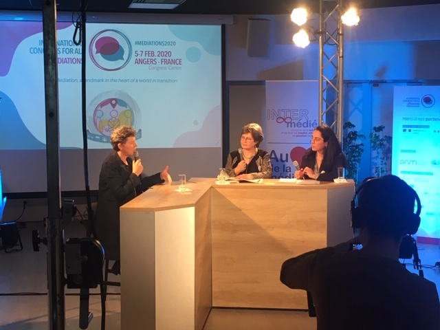 Congrès International de la Médiation, Angers 2020. Interview de Christel Schirmer et Joëlle Dunoyer.