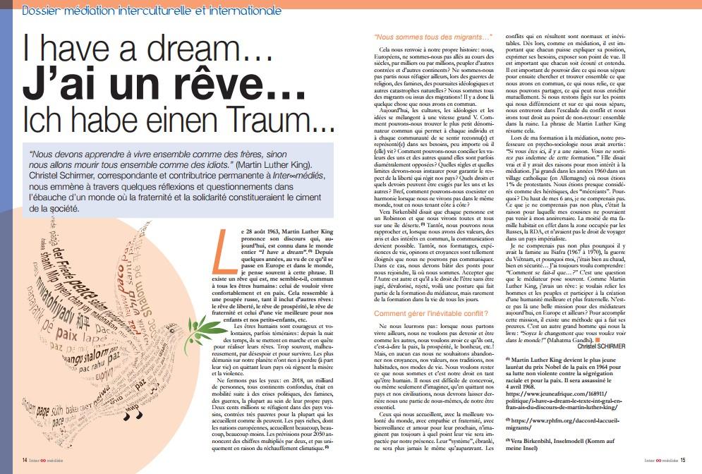 I have a dream… J'ai un rêve… Ich habe einen Traum…