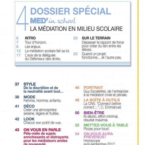 INTER-médiés N°1 Sommaire